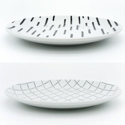 SOROIDraw(ソロイドロー)PLATEL24cmプレートL(電子レンジ可/食洗器可/丸皿/大皿/シンプル/スタイリッシュ/手書き/美濃焼/磁器/CHIPS/引出物/贈り物/贈答品)