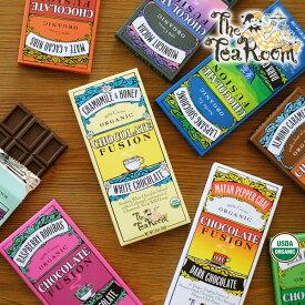 【アウトレットセール】The Tea Room Organic Chocolatesティールーム オーガニックチョコレート( ハーブ お茶 コーヒー カフェ ミルクチョコレート FUSION 有機 パーティ 受賞)【ギフト包装不可】