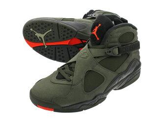 db79e351d58ec NIKE AIR JORDAN 8 RETRO Nike Air Jordan 8 nostalgic SEQUOIA BLACK WOLF  GREY MAX ORANGE