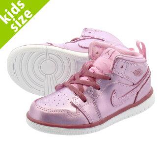 wholesale dealer 22b75 c6fc7 NIKE AIR JORDAN 1 MID SE TD Nike Air Jordan 1 mid SE TD PINK RISE WHITE NOBLE  RED av5172-640