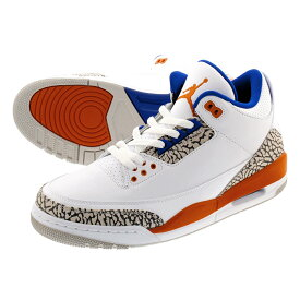 NIKE AIR JORDAN 3 RETRO 【KNICKS RIVALS】 ナイキ エア ジョーダン 3 レトロ WHITE/OLD ROYAL/UNIVERSITY ORANGE 136064-148