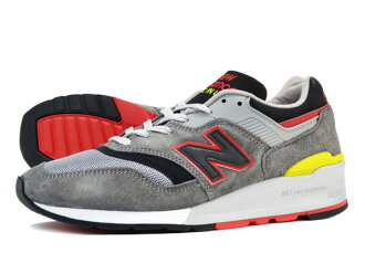 NEW BALANCE M997HL GREY/BLACK/RED/YELLOW 【MADE IN U.S.A.】