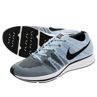 a45f5029ecdfa NIKE FLYKNIT TRAINER Nike fried food knit racer CIRRUS BLUE WHITE BLACK  ah8396-400