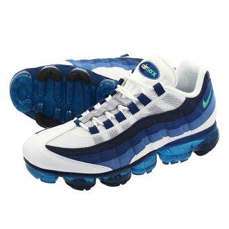 sports shoes 9adb4 373c7 NIKE AIR VAPORMAX 95 Nike air vapor max 95 WHITE/NEW GREEN/FRENCH BLUE/LAKE  BLUE aj7292-100