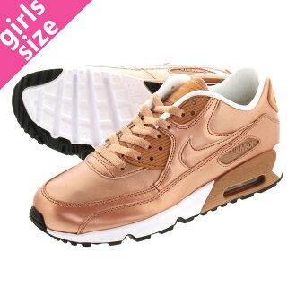 c30f07c68c72f NIKE AIR MAX 90 SE LTR GS나이키 에어 막스 90 SE레더 GS METALLIC RED BRONZE 859633-900