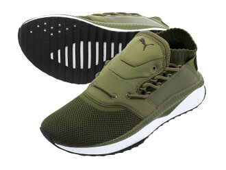 PUMA TSUGI SHINSEI Pooh pine Gissin say OLIVE NIGHT/PUMA WHITE