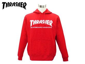 THRASHER SWEAT PULLOVER HOODIE surasshasuuettopuruobafudi RED/WHITE