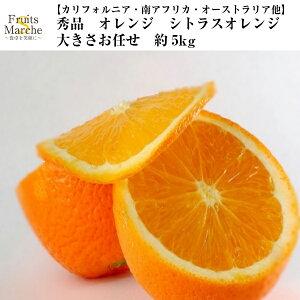 【送料無料】【カリフォルニア・南アフリカ・オーストラリア他】秀品 オレンジ シトラスオレンジ 大きさお任せ 約5kg(北海道沖縄別途送料加算)樹上完熟/蜜柑/果物/フルーツ/デザート/