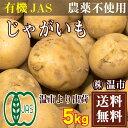 とうや(馬鈴薯) 5kg(温市)じゃがいも 有機JAS・無農薬・送料無料