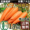 「ポイント10倍」 有機JAS にんじん 規格外加工用 15kg(北海道 渡辺農場)無農薬野菜・送料無料・産地直送