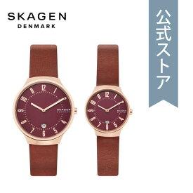 【BLACK DAY限定!クーポン利用でさらに55%OFF!】2019 冬の新作 スカーゲン 腕時計 メンズ レディース ペア ウォッチ セット Skagen 時計 SKW1115 GRENEN 公式 2年 保証