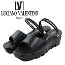 あす楽【送料無料】日本製 LUCIANO VALENTINO ITALY 2way ルチアーノ バレンチノ 6462 コンフォートサンダル ミュール レディース 歩きやすい 厚底サンダル レディース