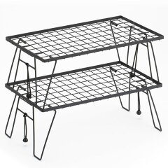 【送料無料】VARIOUSSHELF&TABLE(ベリアスシェルフ&テーブル)折りたたみラックテーブル棚スチールアウトドアキャンプ収納コンパクトおしゃれかっこいいアウトドア用品キャンプ用品ローテーブルバーベキューBBQ