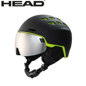4/6AMまで!クーポンで10%OFF!HEAD ヘッド 19-20 ヘルメット RADAR col:black/lime スキー スノーボード ヘルメット バイザー付:323409 [34SS_HEL]