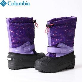 クーポン利用で10%OFF 11/26AMまで!Columbia コロンビア チルドレンズパウダーバグフォーティプリント 防寒 シューズ ブーツ 靴 ジュニア (512):BC1325