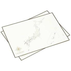 【代引き・同梱不可】 大人の白地図 カルトグラフィー ポスター・A3サイズ 日本 5枚入×3セット CG-A3J