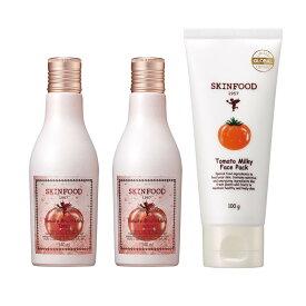 スキンフード WEB限定 トマトブライトニング 3ステップセット 保湿 セット 化粧水 乳液 美容液 ブライトニング SKINFOOD 韓国コスメ