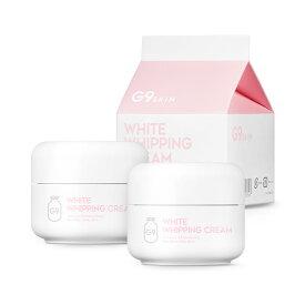 【送料無料】[1+1][G9SKIN/G9スキン] White Whipping Cream pink lavender 2SET / ホワイトホイッピングクリーム ピンク ラベンダー 2個セット 牛乳クリーム 50g ウユクリーム Wクリーム 美白 水分 うるおい 保湿 SkinGarden/スキンガーデン 韓国コスメ