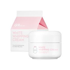 【送料無料】【おまけ付き】[G9SKIN/G9スキン] White Whipping Cream / ホワイトホイッピングクリーム | 牛乳クリーム 50g ウユクリーム 美白 水分 うるおい 保湿 SkinGarden/スキンガーデン 韓国コスメ