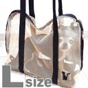 【チワワ キャリー バッグ】 インナーバッグ 猫用シンプルメッシュ Lサイズ (チワワ 小型犬 犬 ショルダー トート バッグ ペット キャリー)