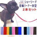 【チワワ 首輪 リード】SkipDog!プチインリード 選べる2本セット (チワワ 小型犬 / リード 首輪)【送料無料 ポッキリ】