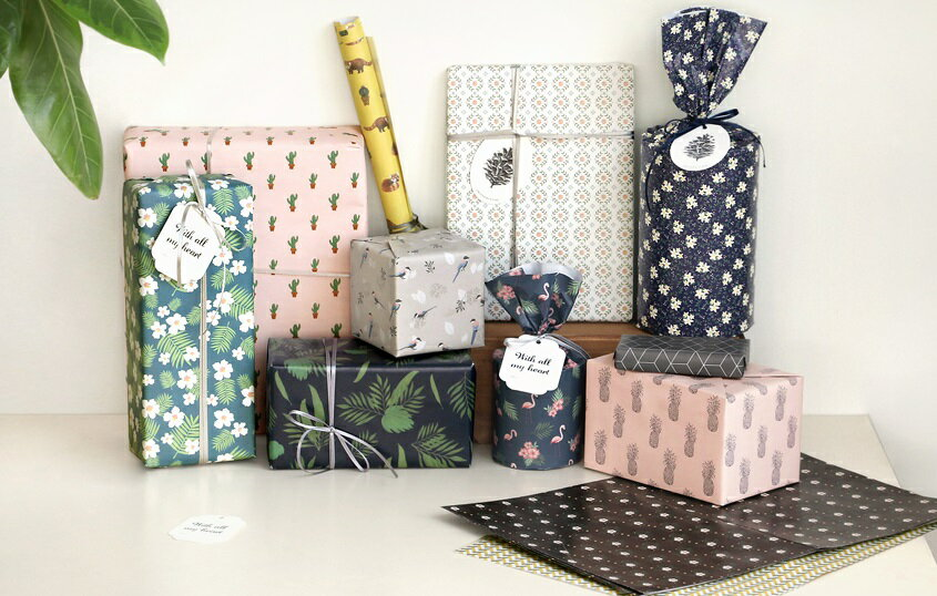 【ICONIC】ラッピングパック★6種類 プレゼント 包装紙 ギフト ラッピング present wrapping 記念日 誕生日 お祝い