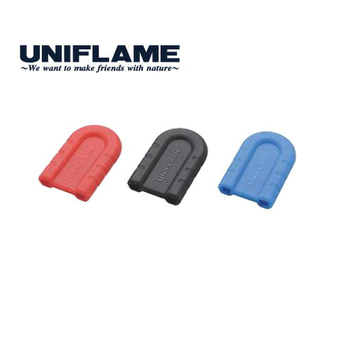 UNIFLAME ユニフレーム ちびパン シリコンハンドル ブルー キャンプ 調理 ソロ フライパン (BLUE):666432