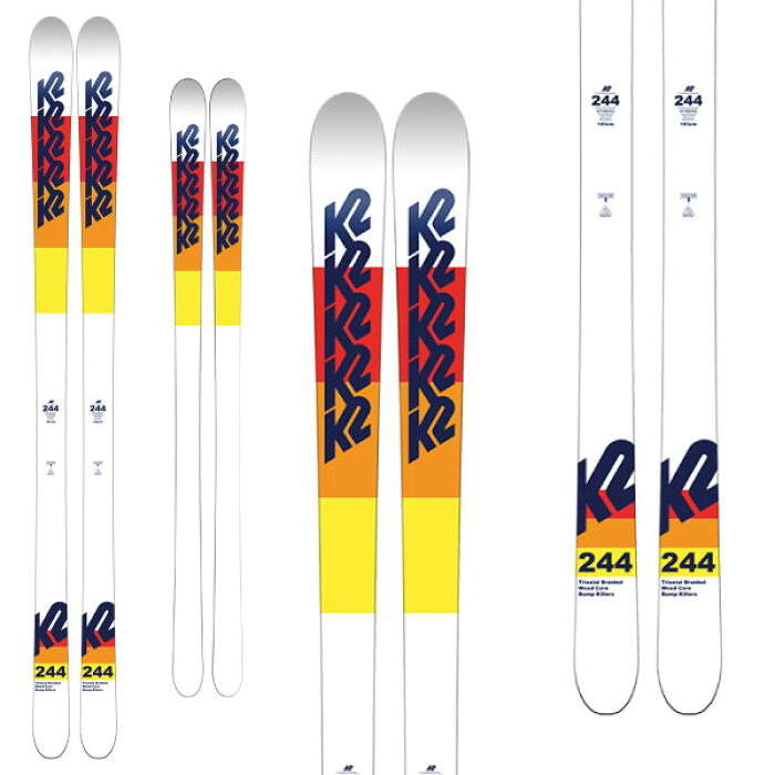 K2ケーツー19-20スキー244(板のみ)スキー板2020モーグルフリースタイル(onecolor):