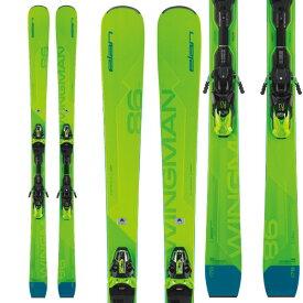ELAN エラン 19-20 スキー 2020 WINGMAN 86CTi Fusion X ウイングマン86CTi (金具付き) オールラウンド デモ スキー板 (onecolor):