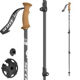 ポイント5倍!12/19AMまで!SCOTT スコット スキーポール ストック TRIPLE DIRECT CORK 伸縮ストック スキー ツアー バックカントリー:1103189