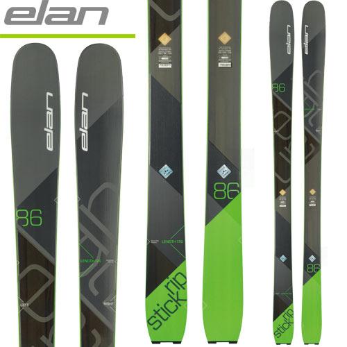 ELAN エラン 17-18 スキー ski 2018 RIPSTICK 86 リップスティック86 (板のみ) フリーライド オールマウンテン ツアースキー: [2018pt0]