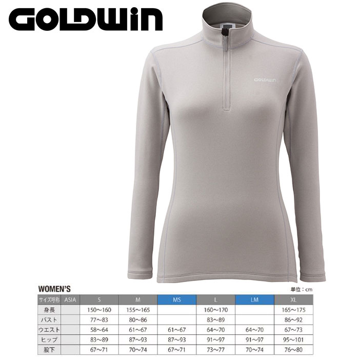 GOLDWIN ゴールドウィン W's Heat Stretch Long Shirt 〔インナージップフリース〕 (CH):GL51561P [40-49ウエア] [56ジャケット¥women¥][34SS-out] [pt0]