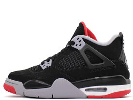 【GIRLS SIZE】NIKE AIR JORDAN 4 RETRO (GS) 408452-060ナイキ エアジョーダン 4 レトロ (GS)BLACK/CEMENT GREY