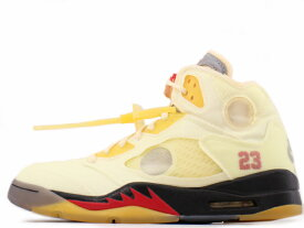 "NIKE AIR JORDAN 5 RETRO SP DH8565-100ナイキ エアジョーダン 5 レトロ スペシャル ""OFF WHITE""SAIL/FIRE RED-MUSLIN-BLACK"
