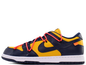 "NIKE DUNK LOW LTHR/OW CT0856-700ナイキラボ ダンク ロー レザー/オフホワイト""OFF-WHITE""UNIVERSITY GOLD/MIDNIGHT NAVY"