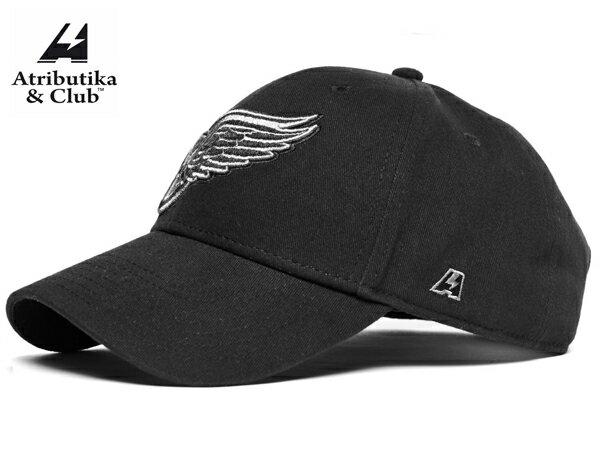 Atributika&Club/アトリブチカ NHLCAP SOLID ※デトロイト レッドウイングス黒※ 【NHLグッツ】 #28144