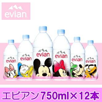 日本紫藤园依云 (Evian) 新设计瓶装水 750 毫升 × 12 书籍进口真正基地 P14Nov15