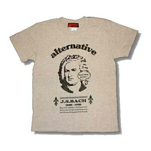 J.S.バッハ/Tシャツ/半袖/グレー/クラシック/大バッハ/ヨハン・ゼバスティアン・バッハ/Johann Sebastian Bach/音楽の父/音楽家