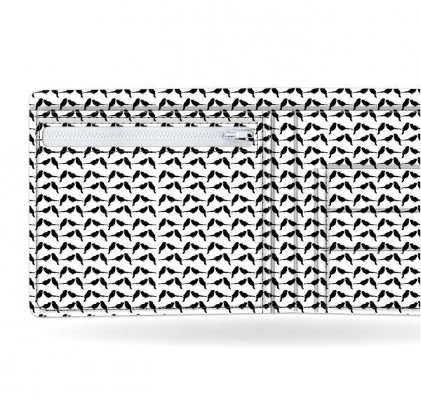 I like paper(アイライクペーパー) BLACK SPARROW 日本初上陸 視線を集めるおしゃれなデザイナーズ ペーパーウォレット 財布 薄く軽い アーティストデザイン デュポン社タイベック製