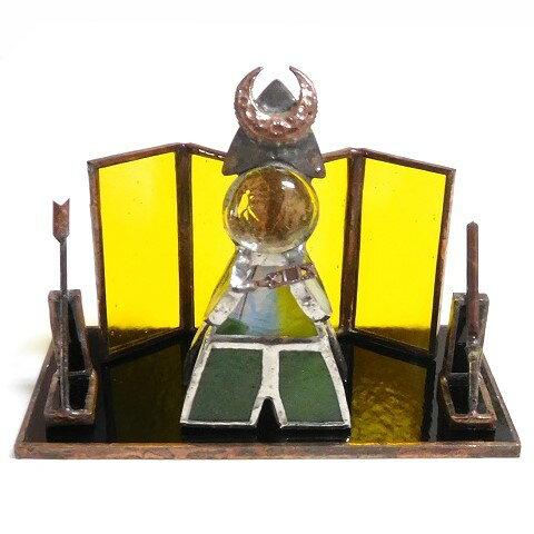 【税込・送料無料】ステンドグラス〔ガラスの武者人形(五月人形)C〕【端午の節句・こどもの日】auktn【YDKG-kj】【RCP】