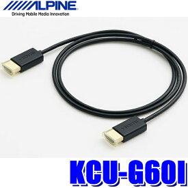 [在庫あり]KCU-G60I アルパイン KCU-Y62HU(ビルトインUSB/HDMI)用iPod/iPhone接続HDMIケーブル