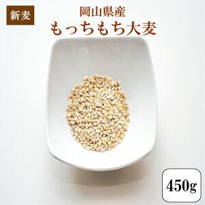 令和元年産 大麦 国内産 もっちもち大麦450g1袋 岡山県産 ポイント消化 送料無料 雑穀・雑穀米 古代米 食品 安い お試し 1kg以下 もち麦の代わりに 美容・ダイエット・健康 メール便