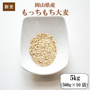 新麦 令和元年産 大麦 国内産 もっちもち大麦5kg(500g×10袋)岡山県産 送料無料 雑穀・雑穀米 古代米 食品 安い もち麦の代わりに 美容・ダイエット・健康※北海道・沖縄の方は別途756円かかり