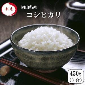 新米 令和元年産 ポイント消化 送料無料 お試し お米 食品 安い 1kg以下 岡山県産コシヒカリ 450g(3合)1袋 メール便