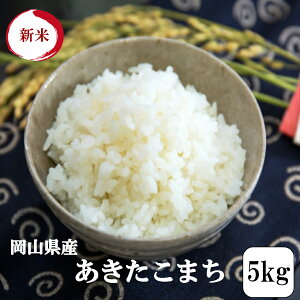 新米 令和2年産 お米 5kg 岡山県産あきたこまち 5kg1袋 送料無料