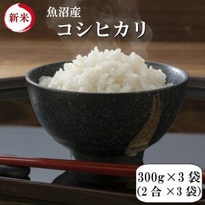 令和元年産 新米 ポイント消化 送料無料 お試し お米 食品 安い 1kg以下 魚沼産コシヒカリ 900g【300g(2合)×3袋】メール便