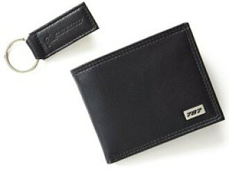 Boeing 787 Dreamliner leather wallet & Keychain (with case)