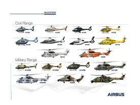 【Airbus Helicopters Family Poster】 エアバス ヘリコプター ポスター