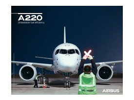 【Airbus A220 Front View Poster】 エアバス 飛行機 ポスター