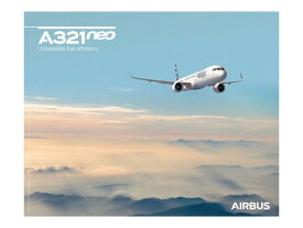 【Airbus A321neo Sky View Poster】 エアバス 飛行機 ポスター